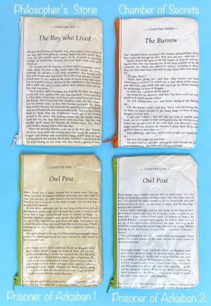 Image of Harry Potter Book Page Pencil Cases