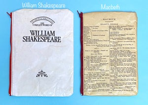 Image of Shakespeare Book Page Pencil Cases