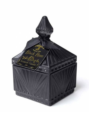 Image of ALCHEMY GOTHIC Square Black Rose Scented Candle Jar