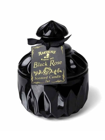 Image of ALCHEMY GOTHIC Round Vintage Black Rose Scented Candle Jar