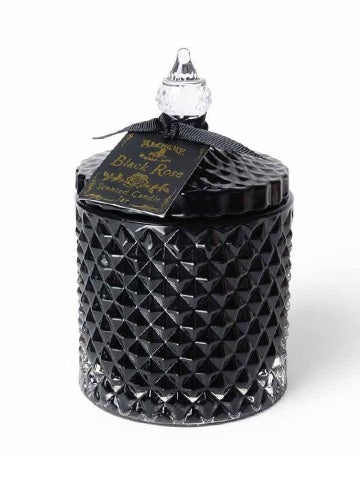 Image of ALCHEMY GOTHIC Black Rose Scented Boudoir Candle Jar LARGE