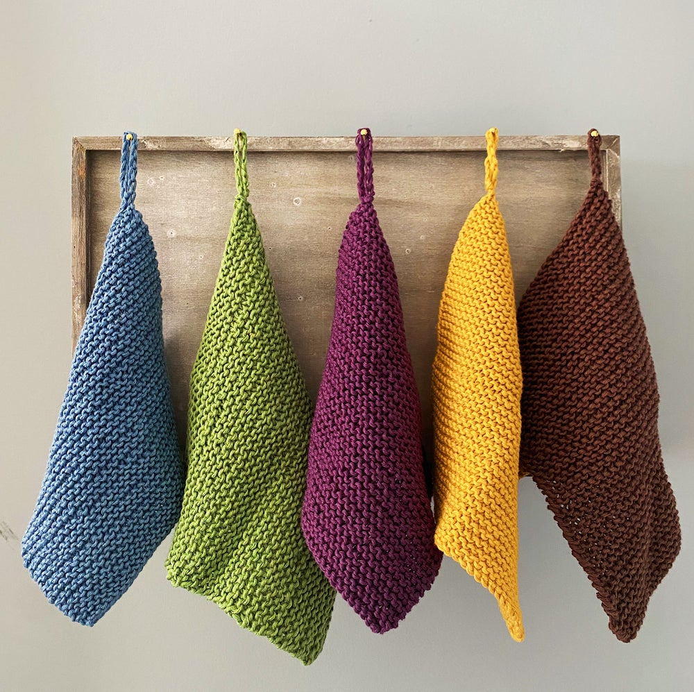 Image of Organic Cotton Knit Wash Cloth