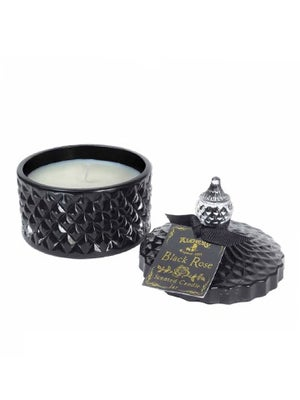 Image of ALCHEMY GOTHIC Black Rose Scented Boudoir Candle Jar SMALL