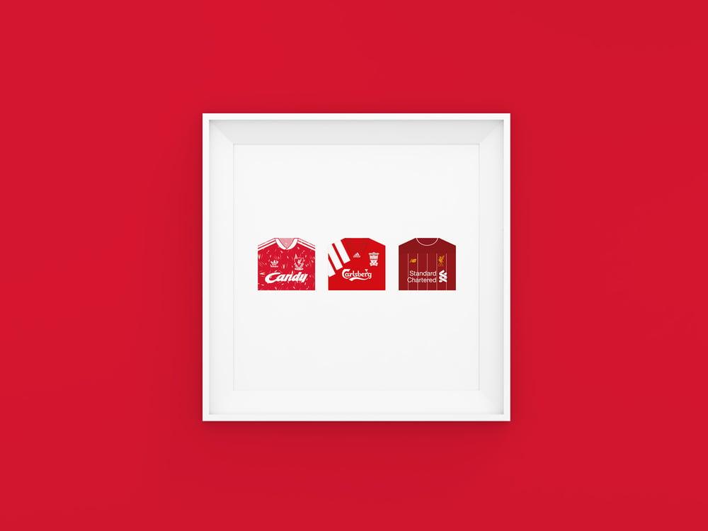 Image of Liverpool FC 3 kit print