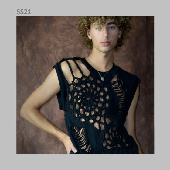 Image of SS21 - CROCHET/SLASHED TOP