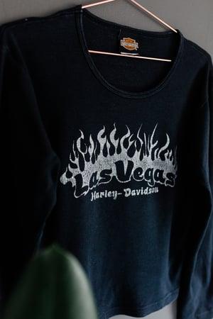Image of 90's Harley Davidson Las Vegas Womens Long Sleeve