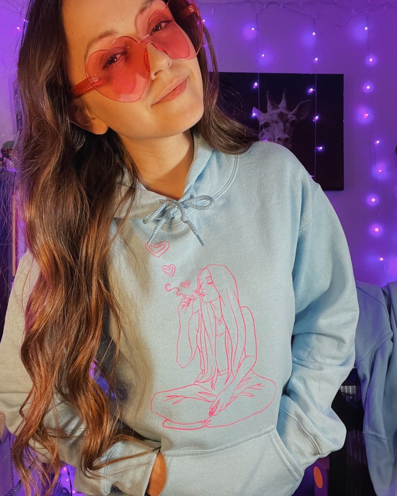 Image of A Stoney Valentine's Day - hoodie or crewneck (light blue)