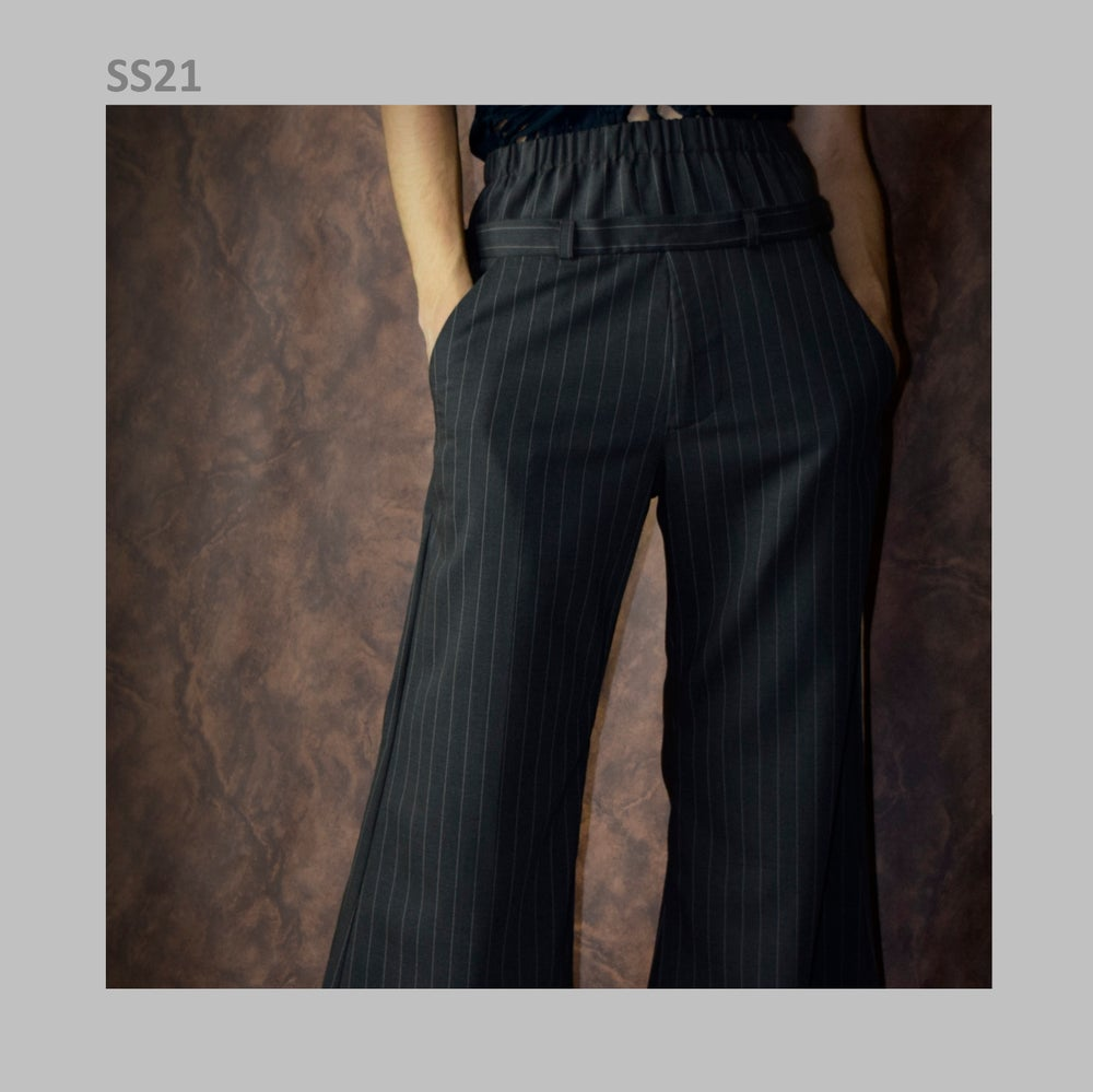 Image of SS21 - WOOL FLARED PANTS