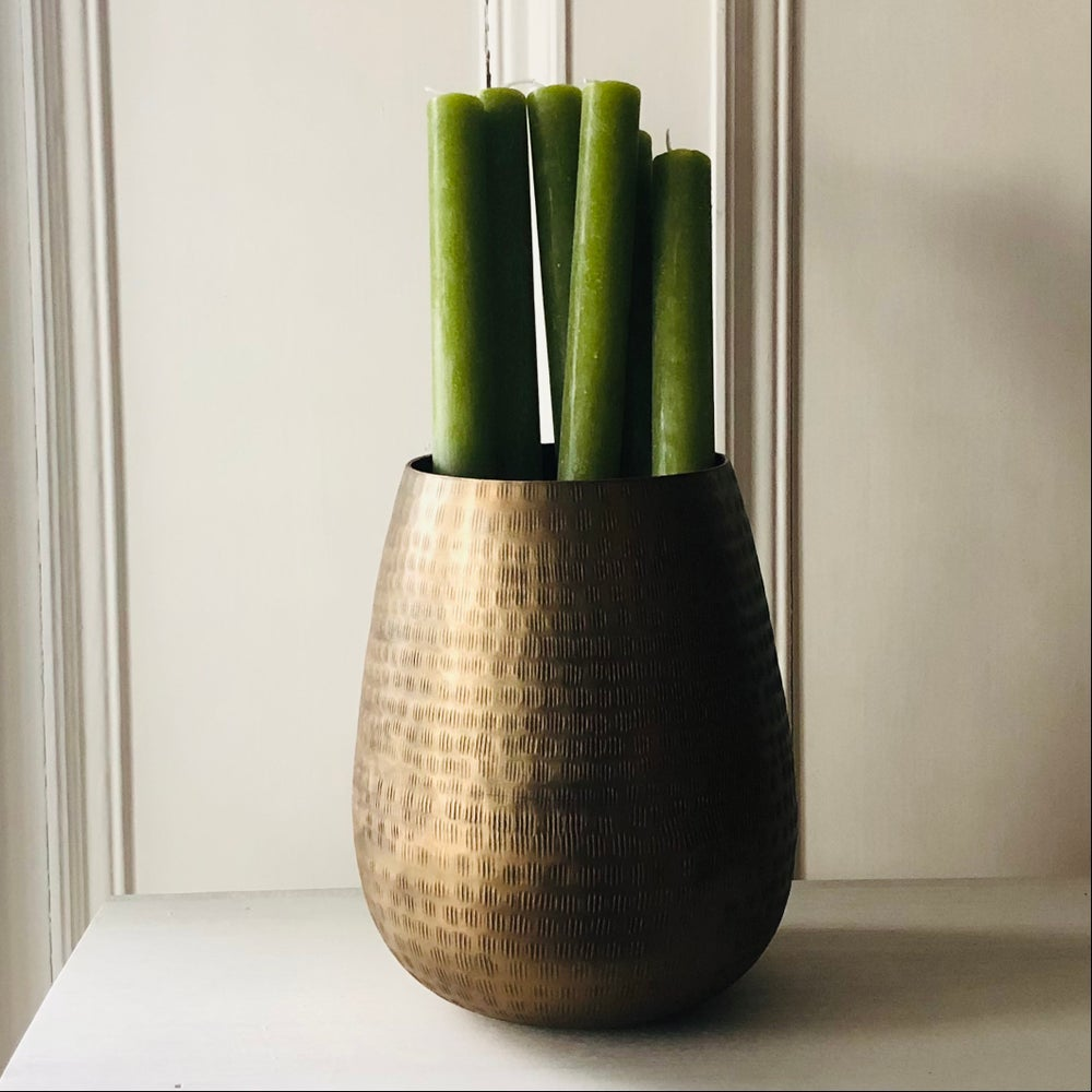 Image of Fern Green Rustic Dinner Candle