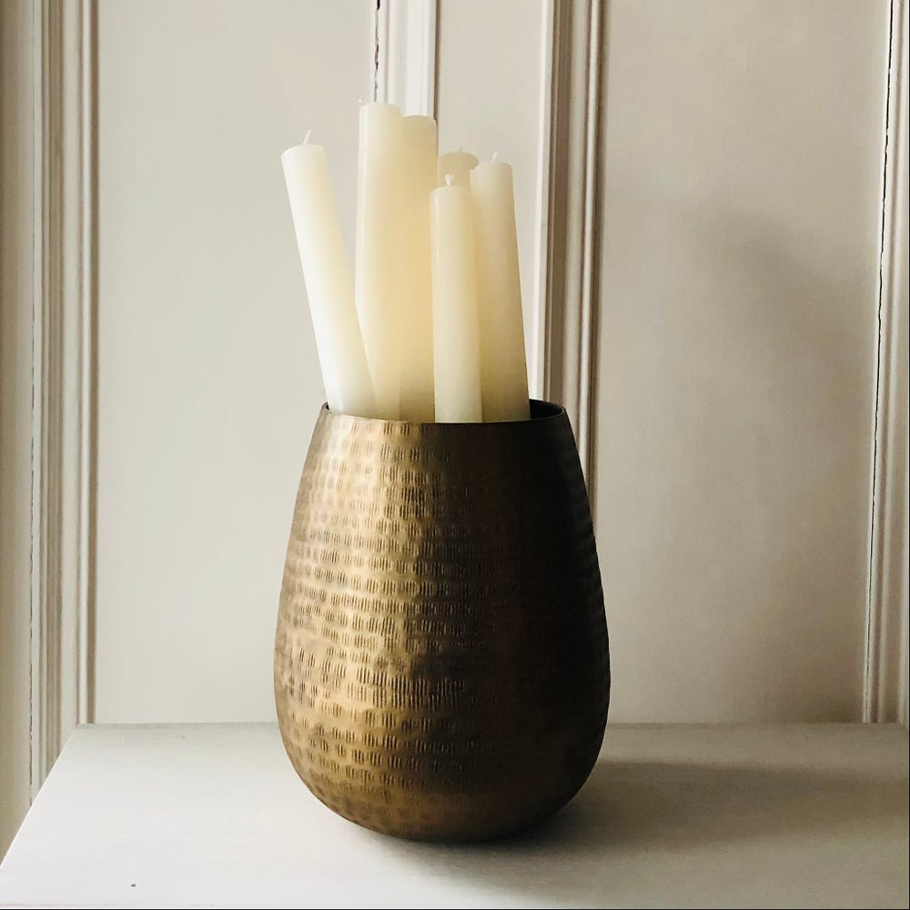 Image of Ivory Rustic Dinner Candle