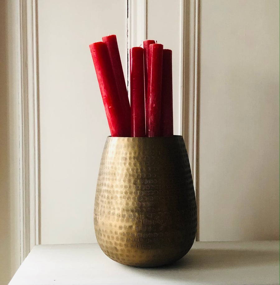 Image of Lipstick Red Dinner Candle