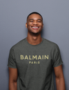 Balmain - Metallic Gold Logo Tee