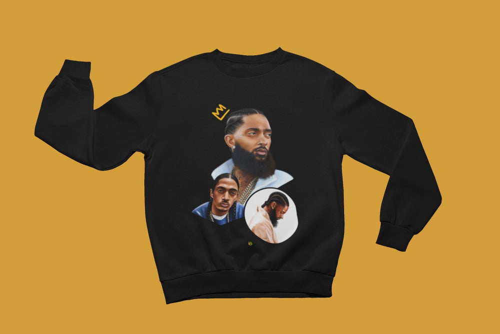 Image of NIPSEY [4EV SWEATSHIRT] (BLACK)