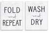 Wash and Fold Wall Plaque