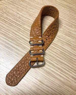 "Image of Tan Peccary unlined ""Guanto"" SP watch strap"