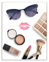 Fashion Glam Accessories and Cosmetics Lipstick Kiss Wall Plaque