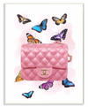 Colorful Butterflies and Fashion Clutch Pink Design