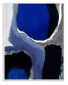 Abstract Masculine Cobalt Oversized Wall Plaque Art