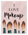 I love Makeup Text  Wall Art