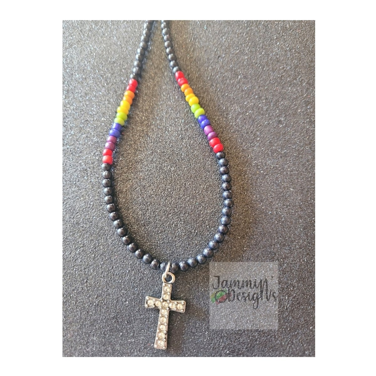 Image of Beaded Pride Necklace