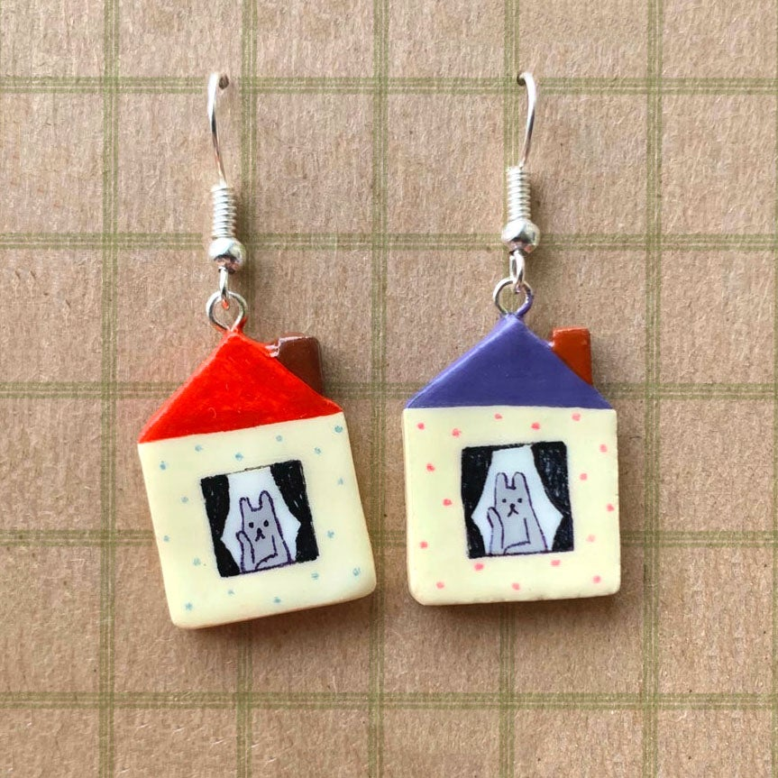Thinking House Earrings