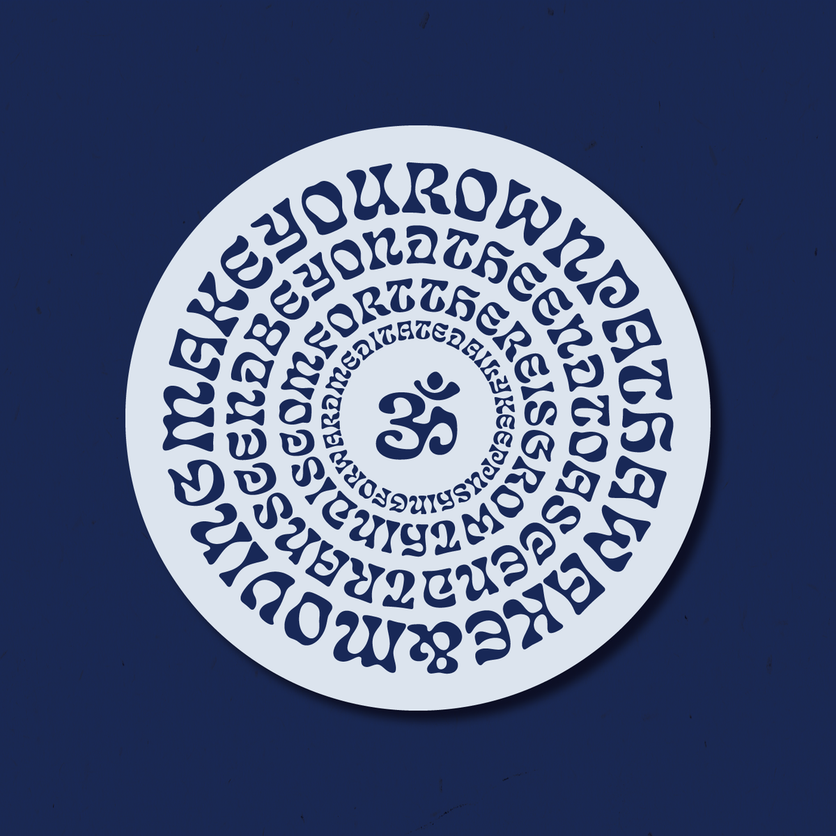 "Image of ""Mantras - Stone"" Sticker"
