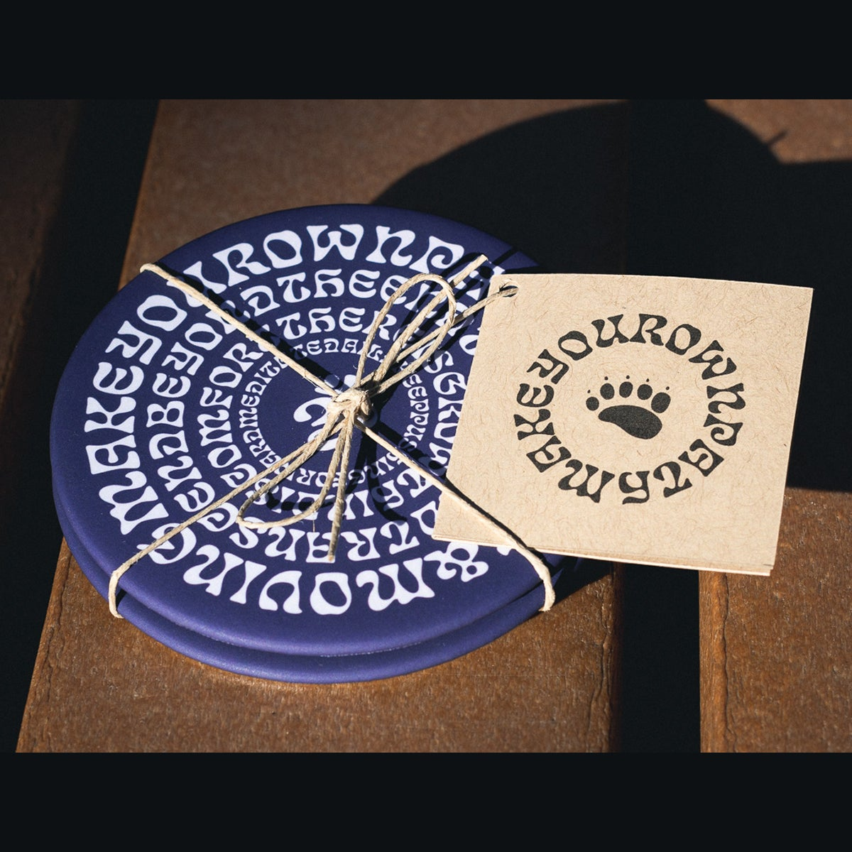 "Image of ""Mantras"" 2-piece Coaster Set"