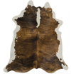 Brazilian Brindle with White Belly Cowhide Rug