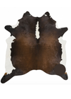 Brazilian Chocolate and white Cowhide Rug Large