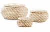 Seagrass Basket With Lids - Set of 3