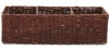 Rectangular Woven Seagrass Storage Basket (Walnut)