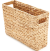 Natural Rectangular Water Hyacinth Magazine Storage Basket