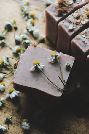 Image of Pink clay, ACV, oat & chamomile soap