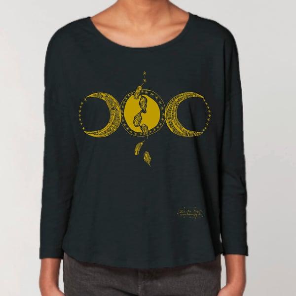 Image of T-shirt Femme Coton Bio *Triple Moon*