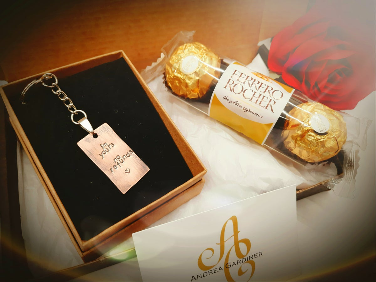 Image of Keyring and chocolate gift set