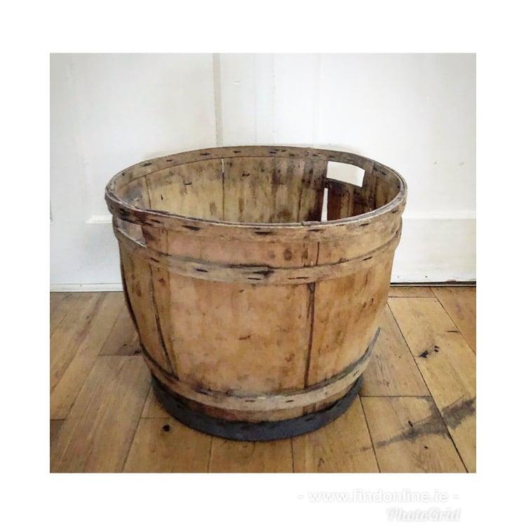 French vintage wooden tub/basket