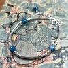 Apatite and silver bangle style bracelet