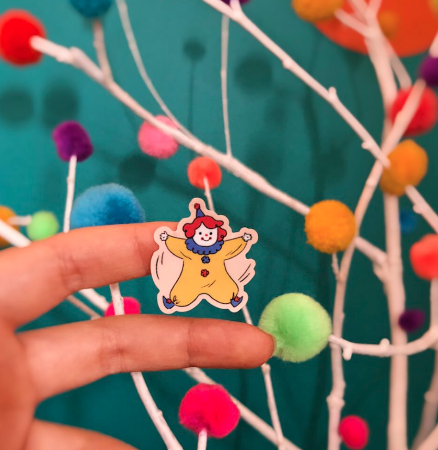 Image of Lolly the Clown Sticker Sheet