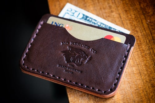 """Image of S.L.C. — """"Thoroughbred"""" Italian Cowhide Leather Wallet"""