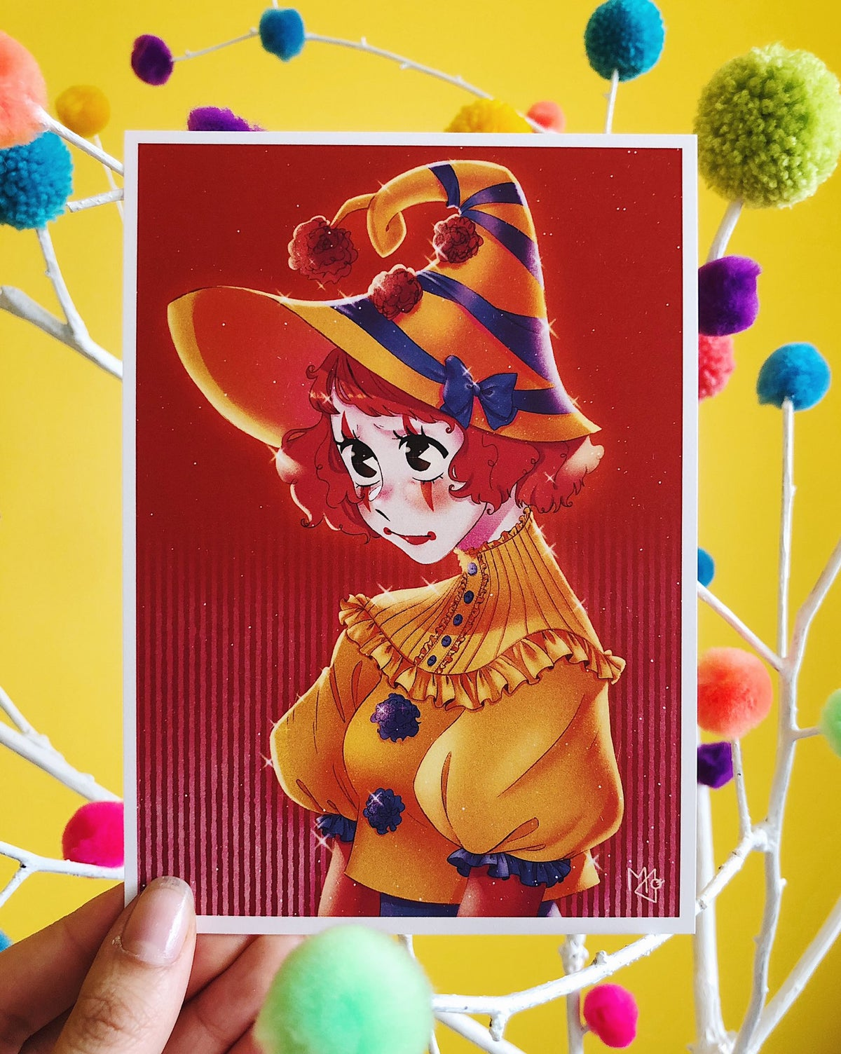 Image of Clown Postcard Prints
