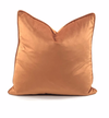 Velvet Throw Pillow (Orange)
