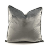 Velvet Throw Pillow (Silver)