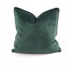 Velvet Throw Pillow (Moss)