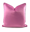 Velvet Throw Pillow (Pink)
