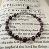 Garnet and tourmaline bracelet with sterling silver
