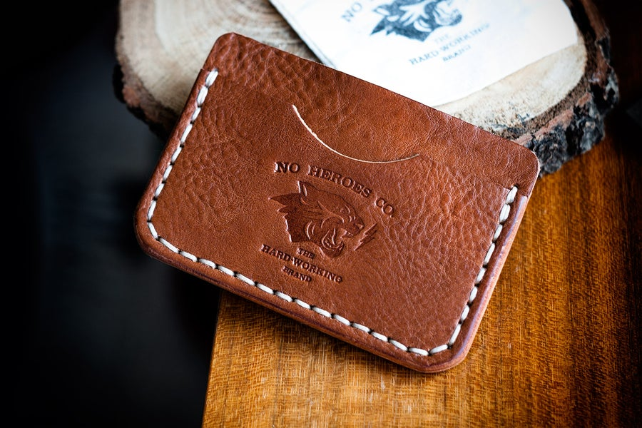 """Image of S.L.C. — """"Antique Saddle"""" Italian Cowhide Leather Wallet"""