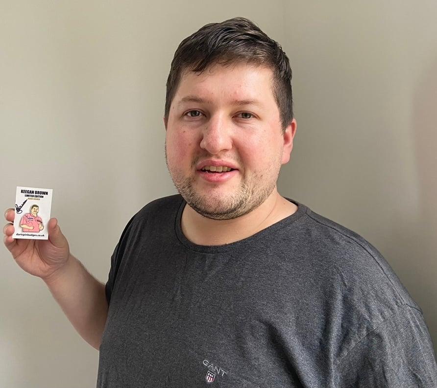 Keegan Brown Limited Edition Pin Badge Hand Signed