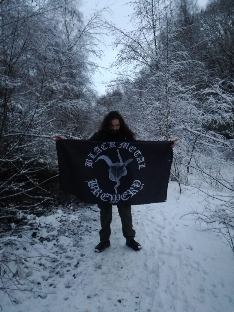 Image of Official BMB flag : 5 feet by 3 feet, with metal eyelets.