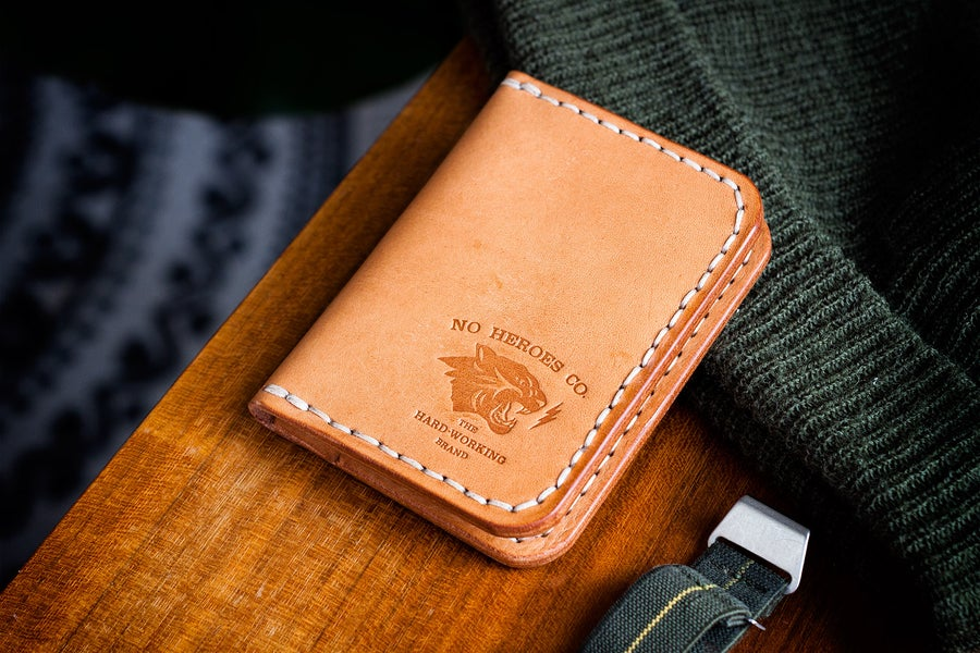 """Image of Corsair — """"Natural Tan"""" Italian Cowhide Leather Front Pocket Wallet"""