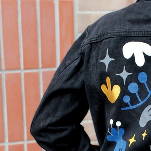 "Veste en jean ""Abstraction"""